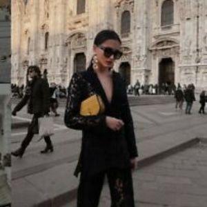 Blogger Favorite Zara Lace Blazer Black M